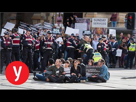 עצורים בהפגנות של טבעונים ברחבי אוסטרליה