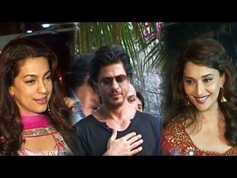 Shahrukh Khan ditches his friends Juhi Chawla & Madhuri Dixit