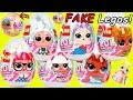 Lil Punk Boi LOL Surprise Dolls Sisters Open Fake LEGOS Eggs + Wedding with JOJO SIWA Married