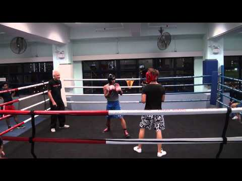 Michael Inot KBABC Grey Top VS Shing Police Boxing Club Black Top Round 3