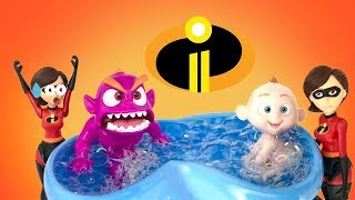 The Incredibles 2 Jack Jack Tantrum Attack Good Baby Bad Baby Monster Bubble Bath Routine