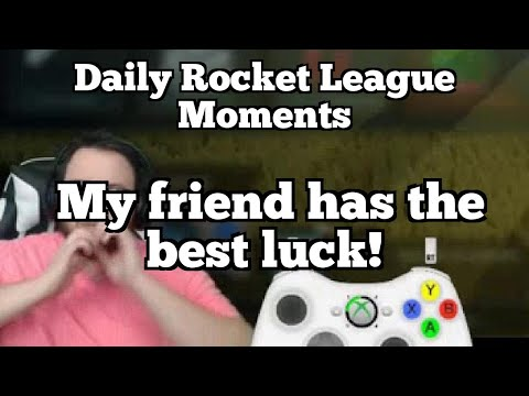 Daily Rocket League Moments: My friend has the best luck!