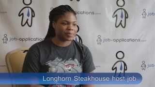Longhorn Steakhouse Interview - Host