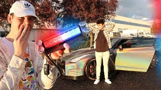 USING FAKE POLICE LIGHTS PULLOVER PRANK! (FREAKOUT)