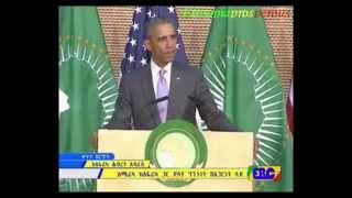US President Barack Obama has made  speech to Africans from the AU head quarter in Addis Ababa