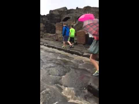 Pompeii under the rain