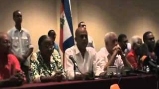 Haiti Twelve Candidates In Press Conference