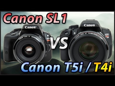 Canon SL1 vs T5i / T4i Comparison Review   Tutorial Training Video