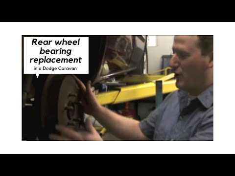 Dodge Caravan Rear Wheel Bearing Replacement