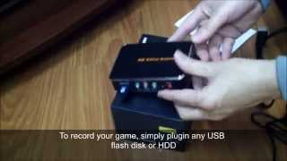 HDMI Game Capture 1080P HD Video Capture Recorder Box for XBOX One 360 PS3 WII U