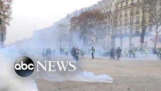 More protests underway in Paris