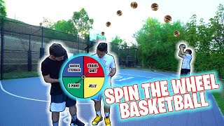SPIN THE WHEEL 1v1 BASKETBALL WITH JESSER AND MOPI FROM 2HYPE!