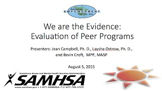 We Are the Evidence: Evaluation of Peer Programs