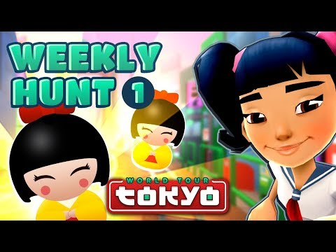 Subway Surfers Weekly Hunt - Collecting Hunt Tokens in Tokyo (Week 1)