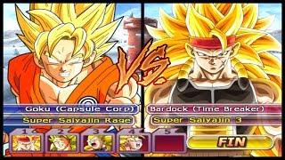 GOKU, SSJ RAGE vs SUPER SAYAJIN 3 Dragon Ball Z Budokai Tenkaichi 3 (HEROES)