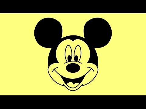 Видео как нарисовать Микки Мауса поэтапно