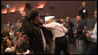 Criminal Kike Gets Gloriously Punched & Pied For Being Allied w/Air Killers of Serbian Children-Napa