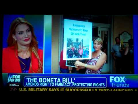 Martha Boneta, a farmer from Paris, VA. talks about the &quot;Boneta Bill&quot; (VA HB 1430) and her problems with the Fauquier County, VA. government. Martha was the ...
