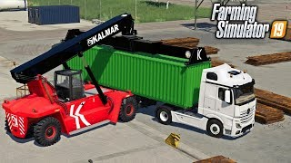 I GOT A JOB AT THE PORT WORKING WITH CONTAINERS | Farming Simulator 19