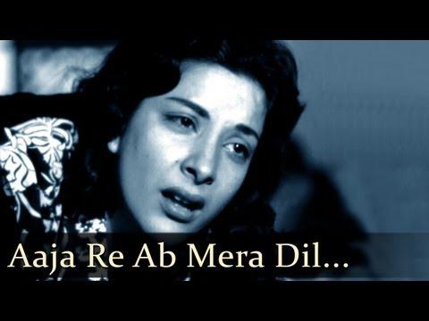 Aah - Aaja Re - Raj Kapoor - Nargis - Bollywood Sad Songs - Lata Mangeshkar - Mukesh video