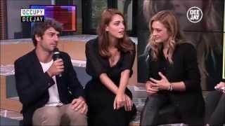 Miriam Leone, Carolina Crescentini e Luca Argentero @ Occupy Deejay (01.10.14)