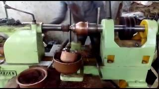 manual spinning copper pot
