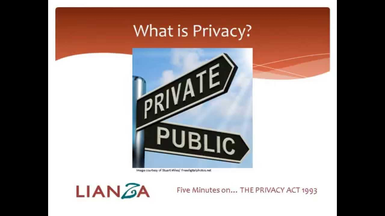 5 Minutes on the Privacy Act