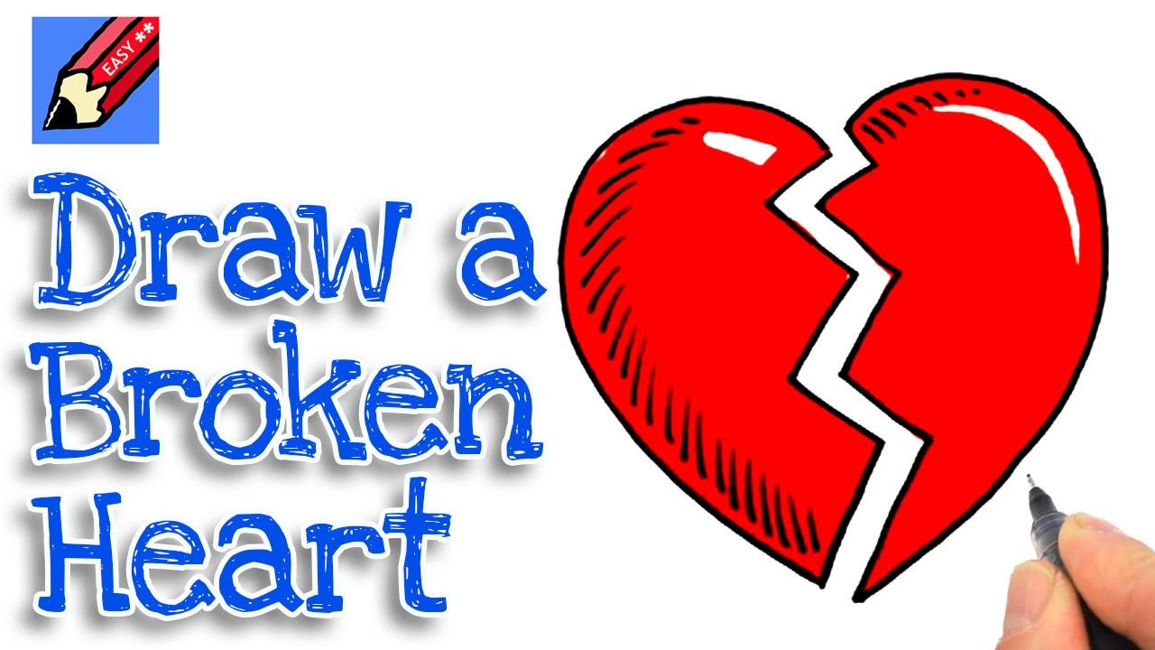 Real Heart Drawing How to draw a Broken Heart