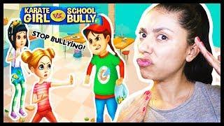 FIGHTING OUR SCHOOL BULLY! - KARATE GIRL vs. SCHOOL BULLY - Based on True Stories - App Games