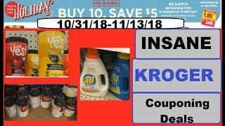 INSANE Kroger Mega Event Couponing Deals!- 10/31/18-11/13/18- UNBEATABLE DEALS!