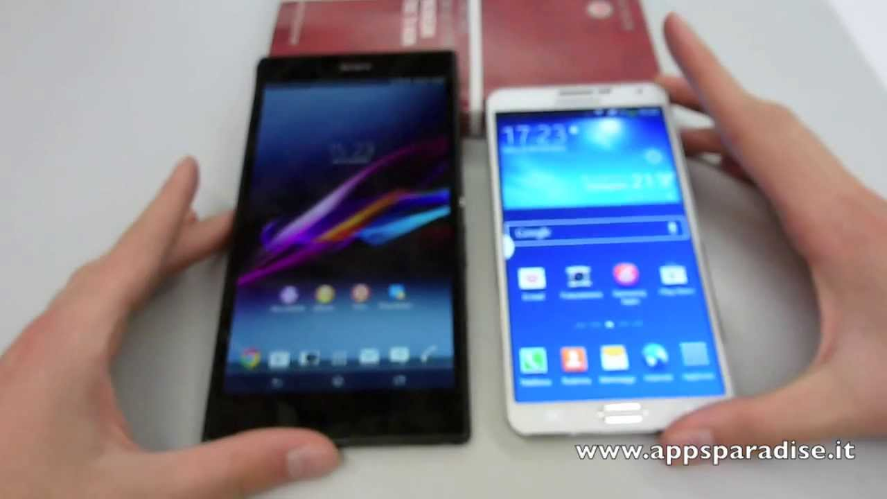 Sony Xperia z Ultra vs Note 3 Neo Note 3 vs Sony Xperia z