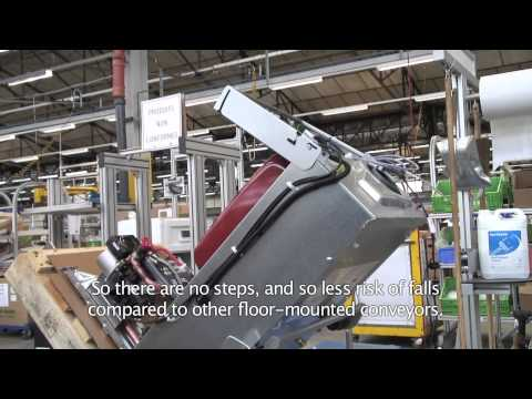 E'tow® in-floor chain conveyor system at De Dietrich Thermique by Egemin Automation