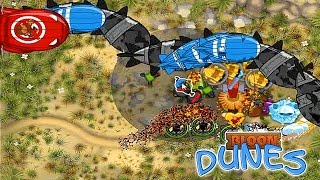 BMC - City Level 16 - DDTs on Impoppable - Lizard Map - Bloon Dunes