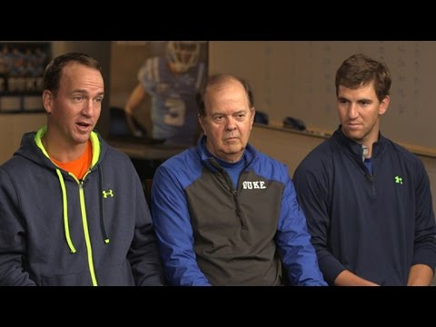 Coach Cutcliffe and the Manning Brothers  60 Minutes Sports Preview