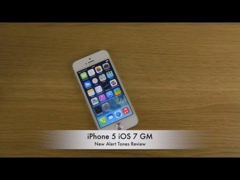 Iphone 5 Ios 7 Gm - New Alert Tones Review video