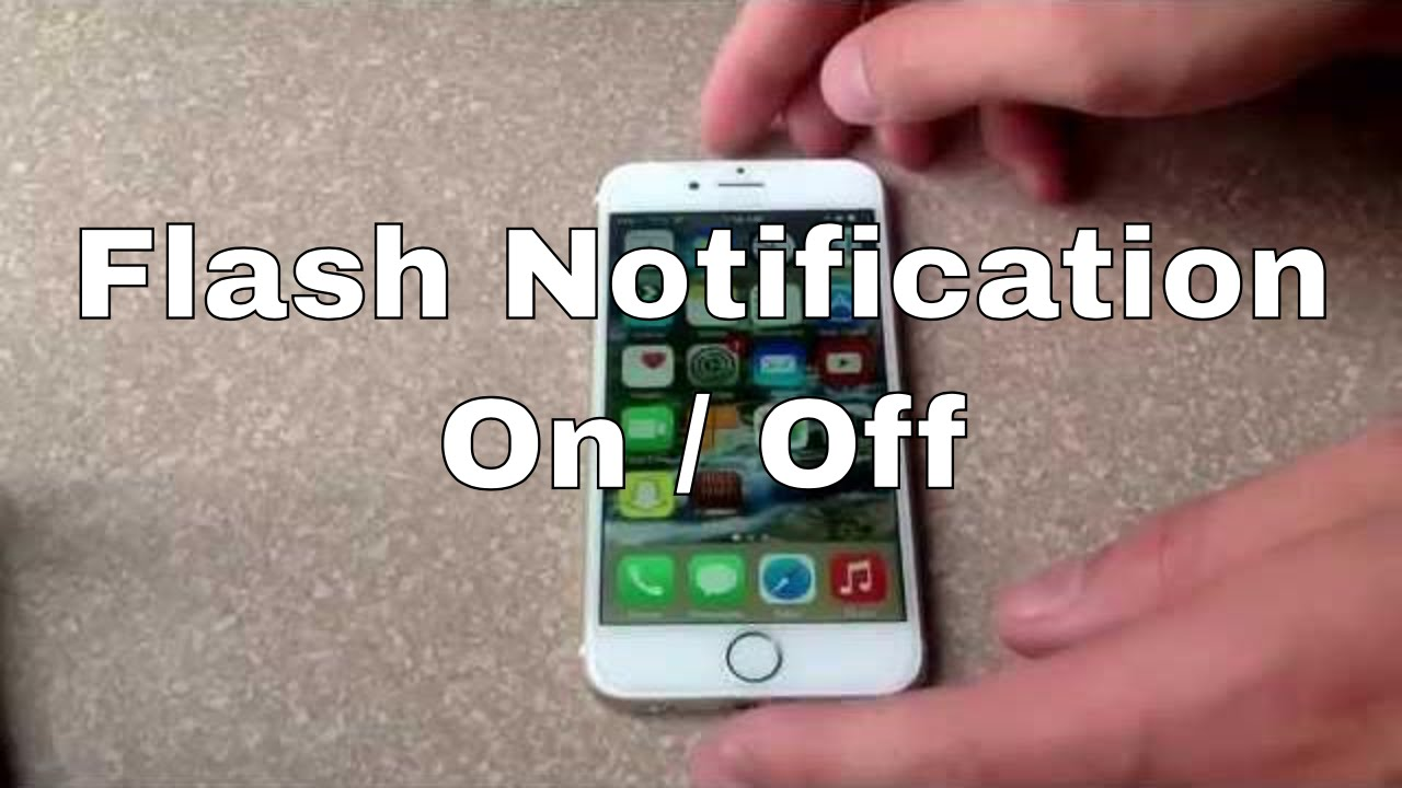 iphone 6 iphone 6 plus how to turn flash notification on off youtube. Black Bedroom Furniture Sets. Home Design Ideas