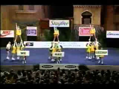 GreenUp County High School Cheerleading 1996