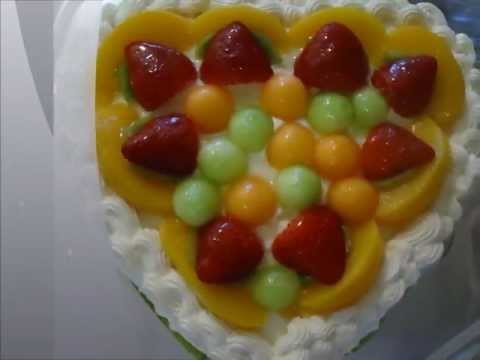 Birthday Cake (Chinese Fruit Filled Sponge Birthday Cake)