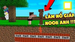 NOOB THỬ THÁCH TROLL NOOB ANH BẰNG CÁCH LÀM NỔ QUẦN ÁO NOOB ANH (Huy Noob Minecraft)
