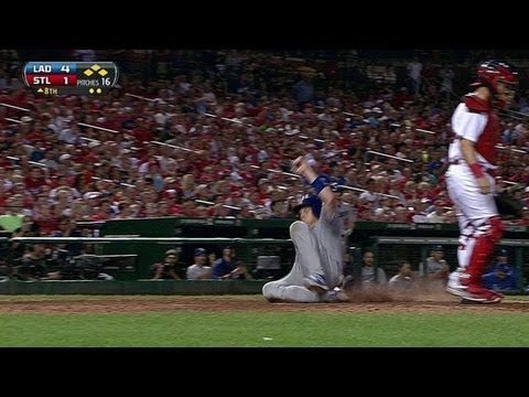 LAD@STL: Hairston singles home Ellis in the eighth