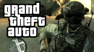 GTA 4: Call of Duty in GTA! - (Soldier + Terrorist Mod Funny Moments)