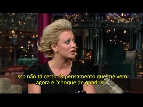 Kaley Cuoco on David Letterman