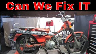 How To Get Rid of Rust, Restoring the Honda Trail 90 Sitting 37 years, pt3,