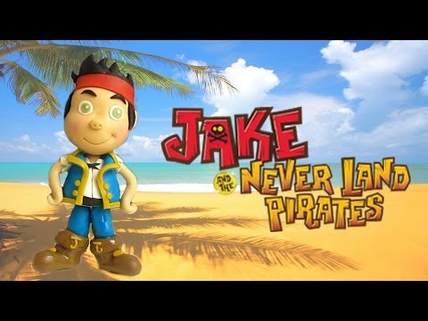Fondant Jake and the Never Land Pirates Cake Topper - Jake e l'isola dei pirati che non c'è