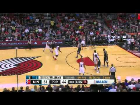 NBA CIRCLE - Minnesota Timberwolves Vs Portland Trail Blazers Highlights 2 March 2013 nbacircle.com