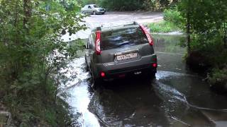 nissan x-trail off road проезд ручья