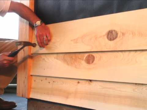 How To Install Cypress Bevel Siding Youtube