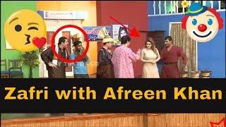 Zafri Khan with Afreen Khan and Asif Iqbal | Stage Drama Pyaari | Full Comedy Clip 2019