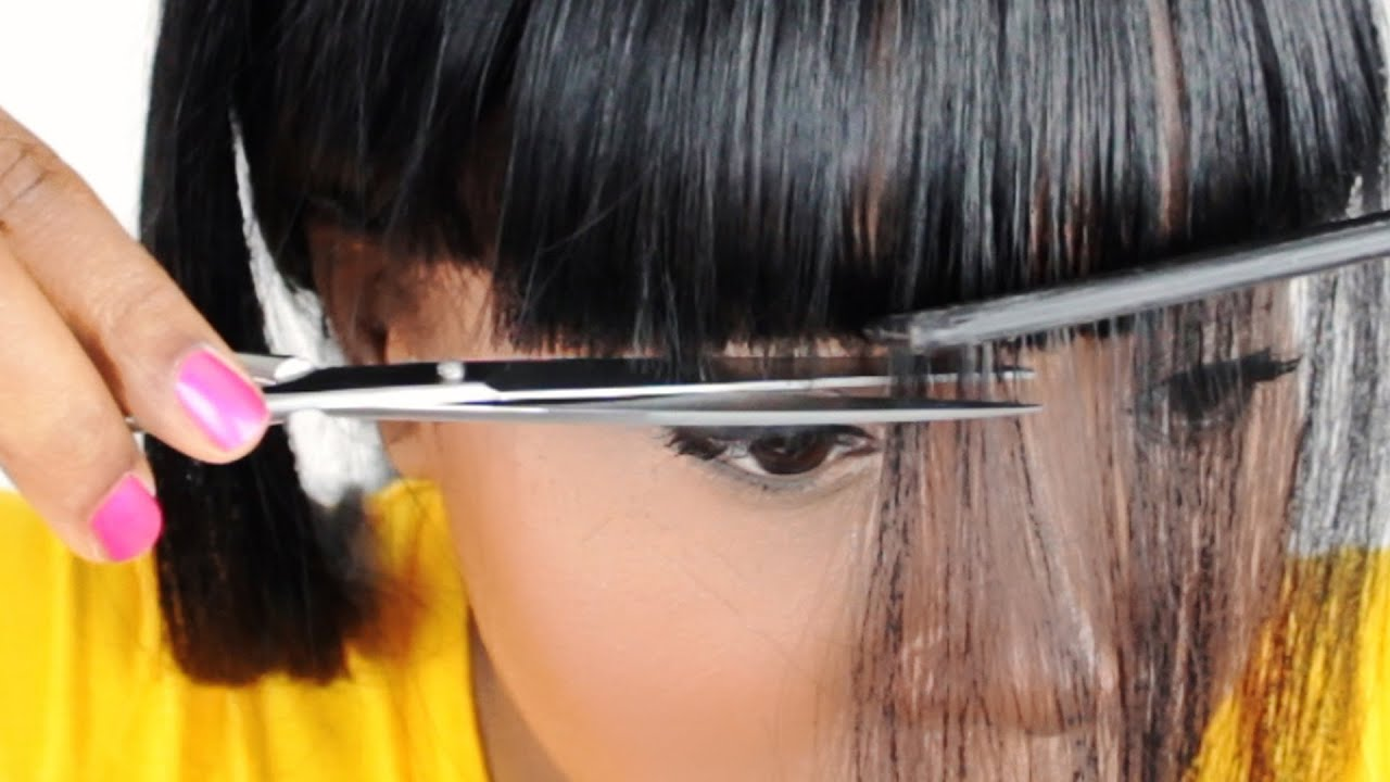 How to Cut Parted Bangs How to Cut Chinese Bangs For a