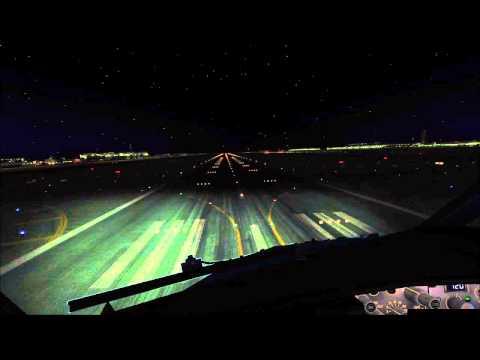 ✈【REAL FSX HD】Dubai Night Landing Boeing 737-800 ✈